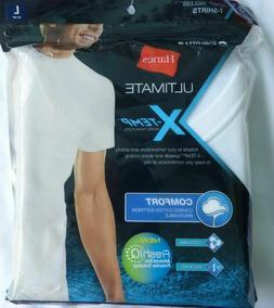 Hanes Men's 3-Pack Ultimate Fresh IQ  X-Temp T-Shirts 100% C