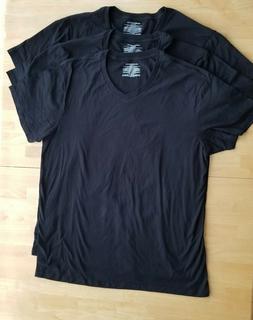 Amazon Essentials Men's 3-Pack V-Neck Undershirts, Black, XL