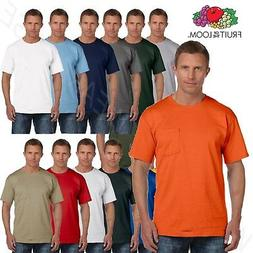 Fruit of the Loom Men's 5 oz 100% Cotton Pocket S-3XL T Shir