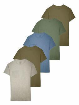 Fruit of the Loom Men's 5-Pack Assorted Pocket T-Shirt