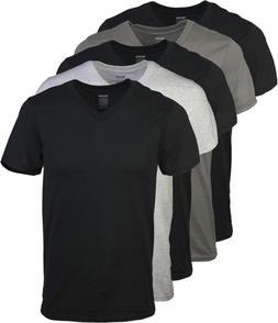 Gildan Men's Assorted V-Neck T-Shirts Multipack, 2XL 5 Pack,