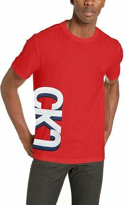 Calvin Klein Men's Athletic Logo-Print T-Shirt RED Mens