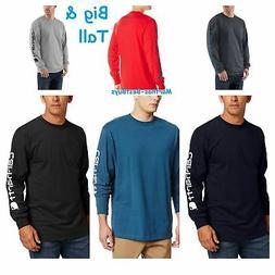 Carhartt Men/'s Big /& Tall Signature-Sleeve Logo Long-Sleeve Cotton T-Shirt K231