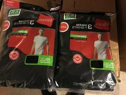 Hanes Men's Black T-Shirts Crew Neck 6 Pack L-2XL T Undershi