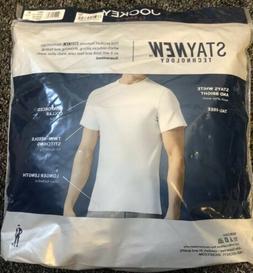 Jockey Men's Classic Crew Neck T-Shirts 3 Pack Reinforced Co