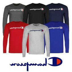 Champion Men's T-Shirt Long Sleeve Cotton Classic Jersey Scr