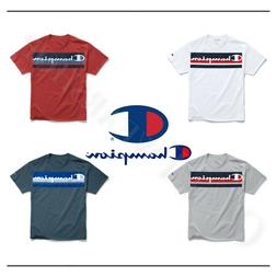 Champion Men's Classic Short Sleeves T-Shirt Logo with Strip