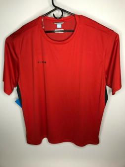 Columbia Men's Cool Coil Crew Neck T-Shirt Red Big& Tall Siz
