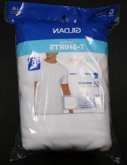 GILDAN MEN'S COOL SPIRE WHITE CREW NECK T-SHIRTS - 6-PACK S-