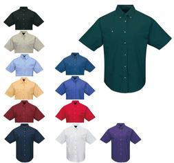 men s cotton twill shirt pocket button