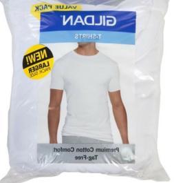 Gildan Men's Crew Neck White T-Shirts, 100% Cotton-- Choose:
