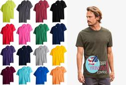 Men's Crew T-Shirt pack of 2 100% Cotton heavy Short Sleeve