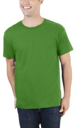 FRUIT Of The LOOM Men's Dual Defense UPF Crew T Shirt / Gree