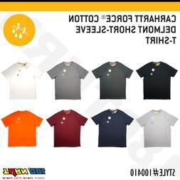 Carhartt Men's Force Cotton Delmont Short Sleeve T-Shirt Rel