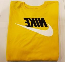 Men's Nike  Futura Long Sleeve 100% Cotton T-Shirt  Tee Top