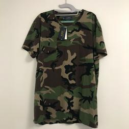Men's Polo Ralph Lauren Green Camo Pocket T-Shirt All Sizes