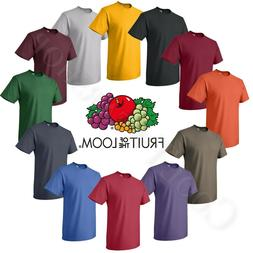 Fruit of the loom Men's HD Cotton Plain Crew Neck Short Slee