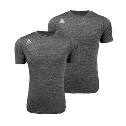 Reebok Men's Heathered Performance T-Shirt 2-Pack Grey/Grey