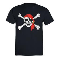 Men's Jolly Roger Skull & Crossbones Pirate Flag Navy Milita