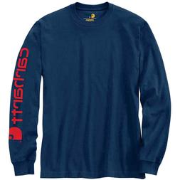 Carhartt Men's K231 Shirt Long Sleeve Signature Logo T-Shirt