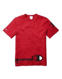 Champion Men's Life Heritage Wraparound Logo T-Shirt: Red/Bl