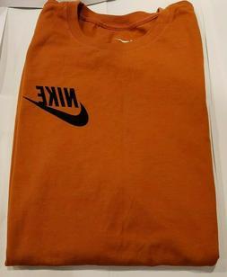 Men's Nike  Long Sleeve 100% Cotton T-Shirt  Tee Top Size  L