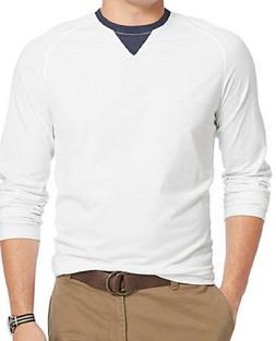 IZOD Men's Long-Sleeve Crew-Neck T-Shirt, Bright White, XL