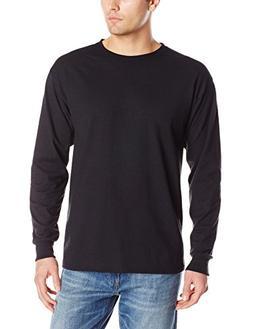 Jerzees Men's Long-Sleeve T-Shirt, Black, Large