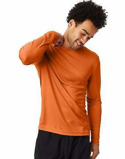 Hanes Men's Long Sleeve T-Shirt Men Cool DRI Performance Ath