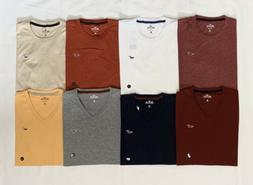 HOLLISTER Men's Must-Have Slim Fit V-Neck/ Crew Neck T-Shirt