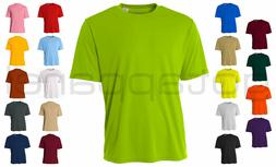 A4 Men's New Dri-Fit Workout Running Cooling Performance T-S