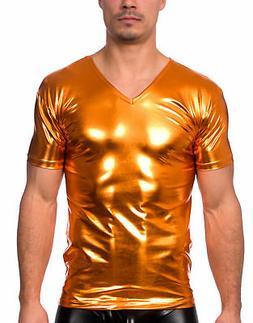 Men's New Liquid V-Neck Short Sleeve T-Shirt by Gary Majdell