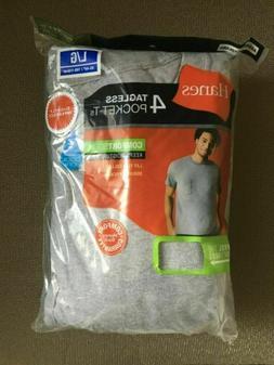 Hanes Men's Pocket T-Shirt Grey Heather 4 Pack Tee M-3XL Tee