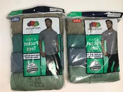 Fruit of the Loom Men's Pocket T-Shirt Multipack 4 Pack