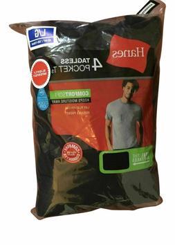 Hanes Men's Pocket T-shirts Tees 4-pack Sizes