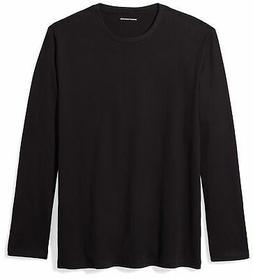 Amazon Essentials Men's Regular-Fit Long-Sleeve T-Shirt Blac