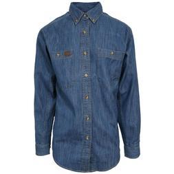 Wrangler Men's Riggs Denim Workwear Cotton Twill L/S Shirt