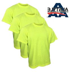 Men's Safety Yellow Green T-Shirts High Visibility Work Tees