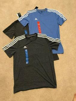 Adidas Men's Short Sleeve 3 Stripe Essential T-Shirt M L XL