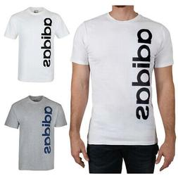 Adidas Men's Short Sleeve Cotton Vertical Logo The Go To T-S