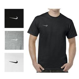 Nike Men's Short Sleeve Athletic Wear Embroidered Swoosh Wor