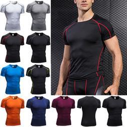 Men's Short Sleeve Gym Sport T Shirt Fitness Workout Compres