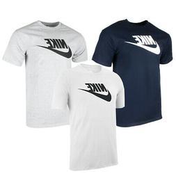 Nike Men's Athletic Wear Short Sleeve Logo Swoosh Printed Gy