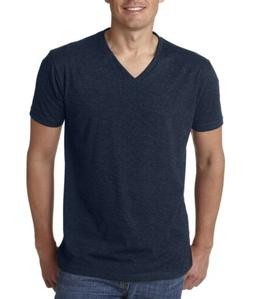 Next Level Men's Short Sleeve Solid Premium CVC V-Neck T-shi