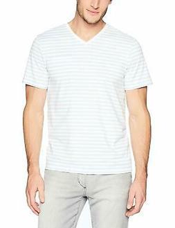 Calvin Klein Men's Short Sleeve T-Shirt Allover Stripe and J