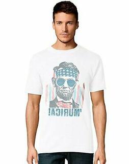 Men's Short Sleeve T-Shirt Murica Graphic Tee Lincoln Sungla