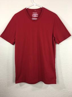 Amazon Essentials Men's Slim-fit  T-Shirt V-Neck Red Size M