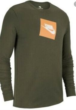 Nike Men's Sportswear Futura Logo Long-Sleeve T-Shirt AJ3873