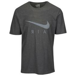 Nike Men's Swoosh Air CHARCOAL Metallic SILVER Tee t shirt 1