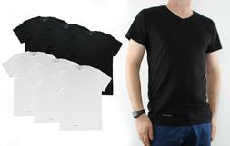 Calvin Klein Men's T-Shirts, 3-Pack 100% Cotton V-Neck Class